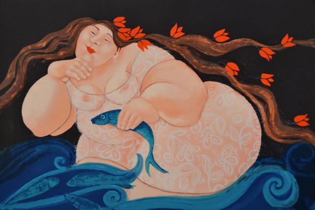 Zwemmende vrouw – Ada Breedveld – Art center Hoorn