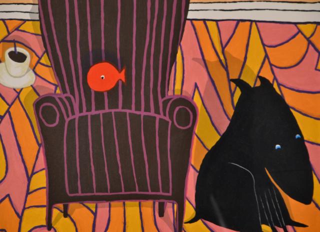 Zwart hondje II – Peter Bastiaanssen – Art center Hoorn