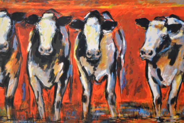 Koeien voor rode gloed – Frits van Eeden – Art center Hoorn