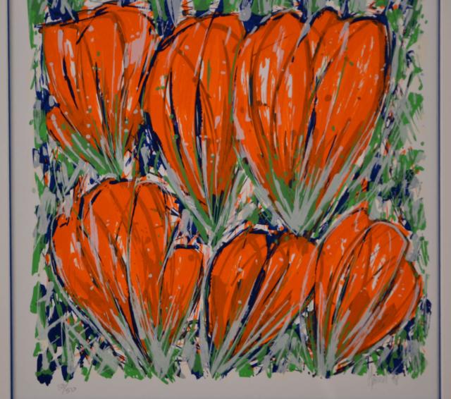 Rode tulpen – Ad van Hassel – Art center Hoorn