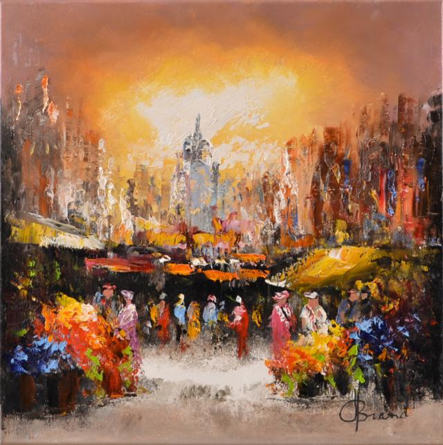 Stadsgezicht bij avond – Henry Brand – Art center Hoorn