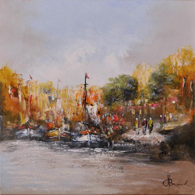 Havengezicht bij dag – Henry Brand – Art center Hoorn