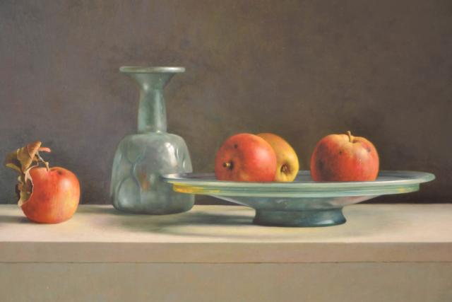 Romeins glas met appels – Henk Helmantel – Art center Hoorn