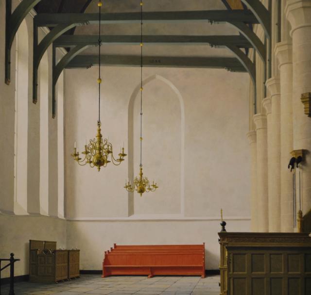 Interieur St. Nicolaas kerk in Monnickendam – Henk Helmantel – Art center Hoorn