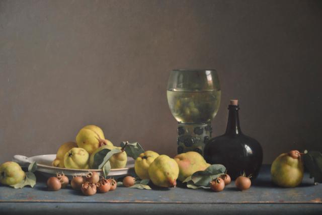 Stilleven met grote roemer en kweeperen – Henk Helmantel – Art center Hoorn