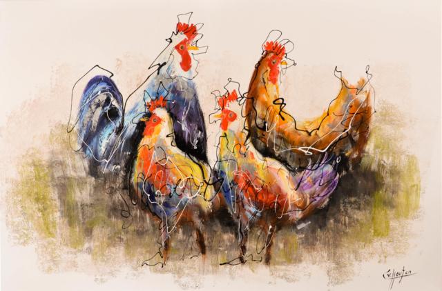 Kippen – Caspar van Houten – Art center Hoorn