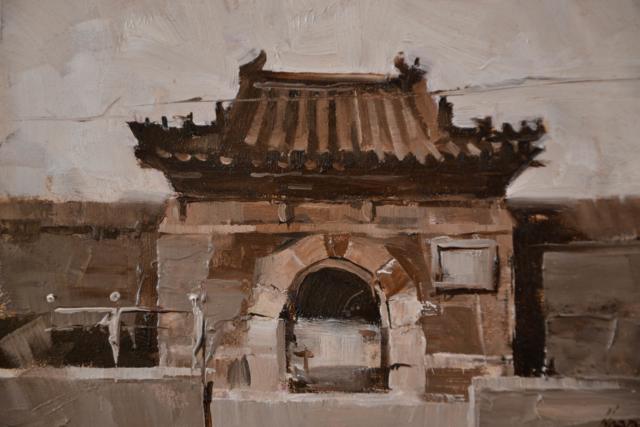On a Beijing street 3 – Qiang Huang – Art center Hoorn