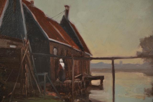 Huis aan water – H.G. de Korte – Art center Hoorn