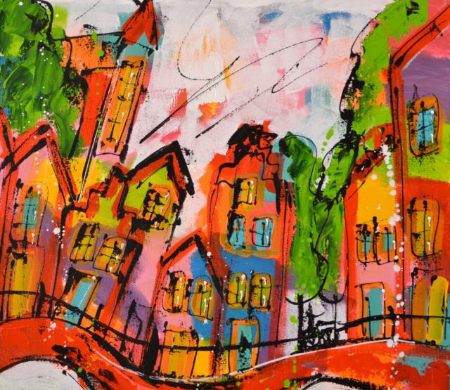 Dansend stadsgezicht – Liz – Art center Hoorn