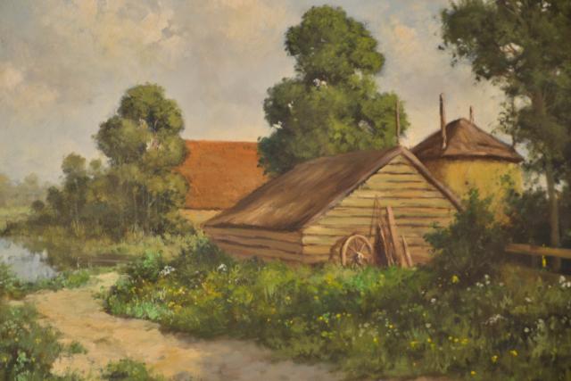 Boerenhoeve aan zandpad – Peter Motz – Art center Hoorn