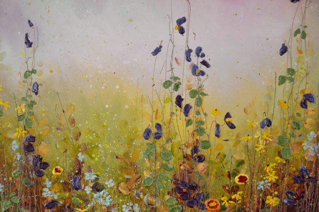 Purple Flower Field – Yulia Muravyeva – Art center Hoorn