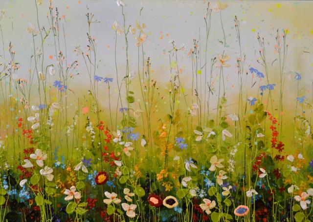 Blue sky Flowerfield – Yulia Muravyeva – Art center Hoorn