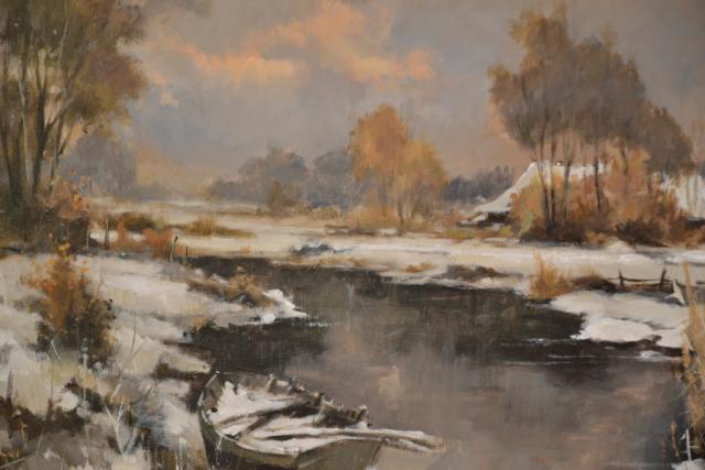 Winterlandschap – R. Sievers – Art center Hoorn