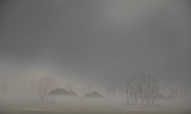 Landschap in de mist – Lolke van der Bij – Art center Hoorn