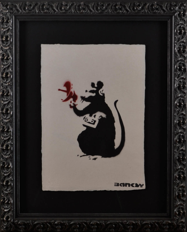 Radio Rat – Banksy – Art center Hoorn