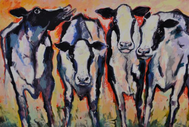 Koeien in avondgloed – Frits van Eeden – Art center Hoorn