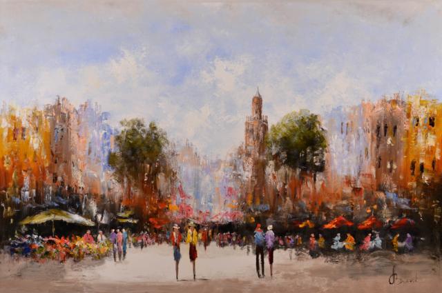 Stadsgezicht bij dag – Henry Brand – Art center Hoorn