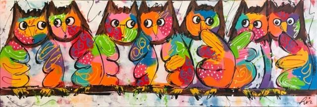 Vrolijke uilen – Liz – Art center Hoorn