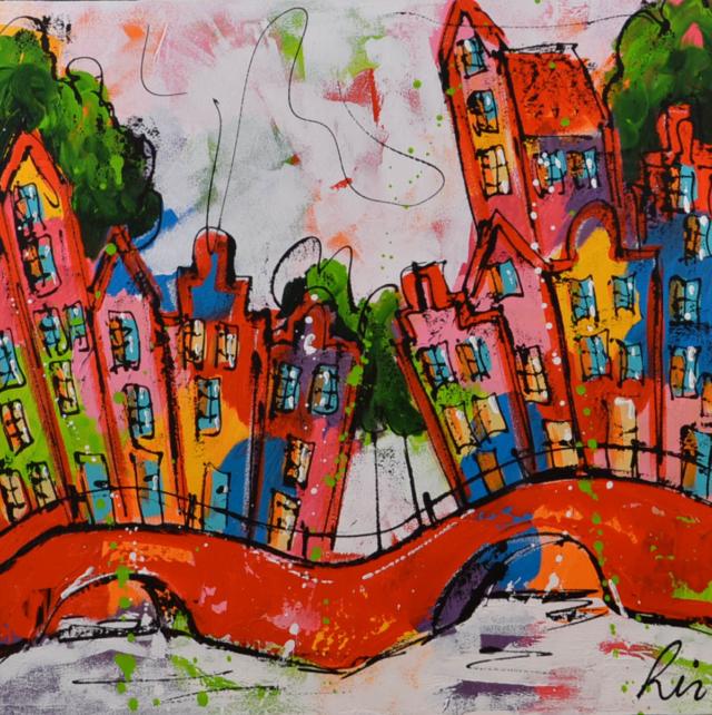 Vrolijk stadsgezicht – Liz – Art center Hoorn