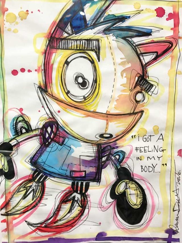 """I Got a Feeling in My Body"" – Loes van Delft – Art center Hoorn"