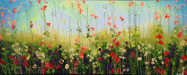 Flowers before blue Sky – Yulia Muravyeva – Art center Hoorn