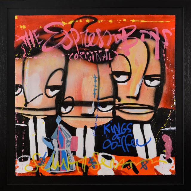 The Espresso Boys, original – Selwyn Senatori – Art center Hoorn