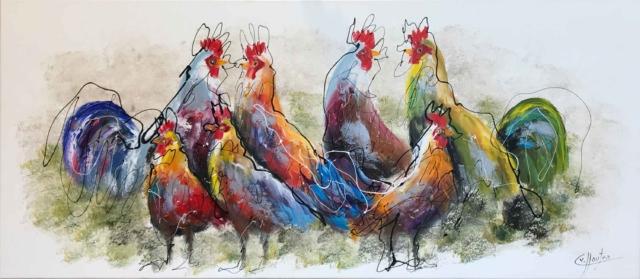 Kippen - Caspar van Houten - Art Center Hoorn