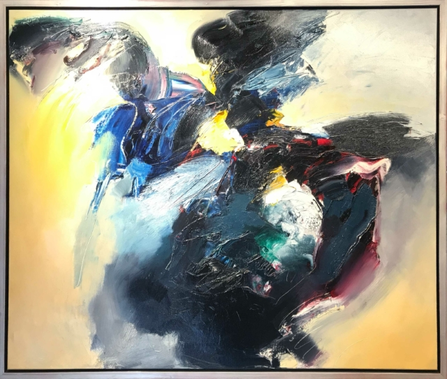 Abstract olieverf schilderij 1 - Ton van Kesteren - Art Center Hoorn