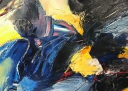 Abstract olieverf schilderij 2 - Ton van Kesteren - Art Center Hoorn