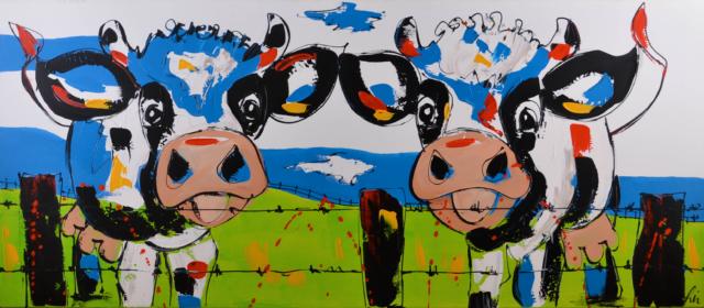 Vrolijke koeien – Liz – Art center Hoorn