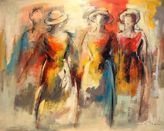 Silhouetten met hoedjes – Maria de Vries – Art center Hoorn