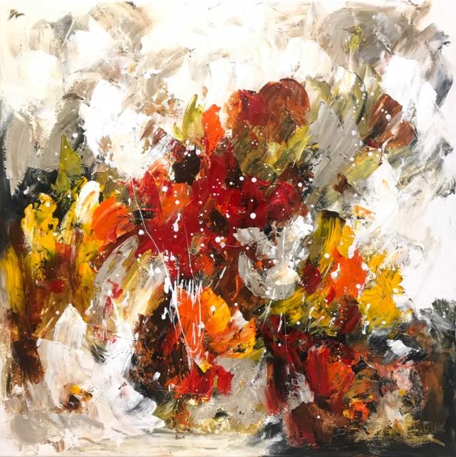 Twan van de Ven - Bloemenveld, abstract - Art Center Hoorn - VEN1002_1