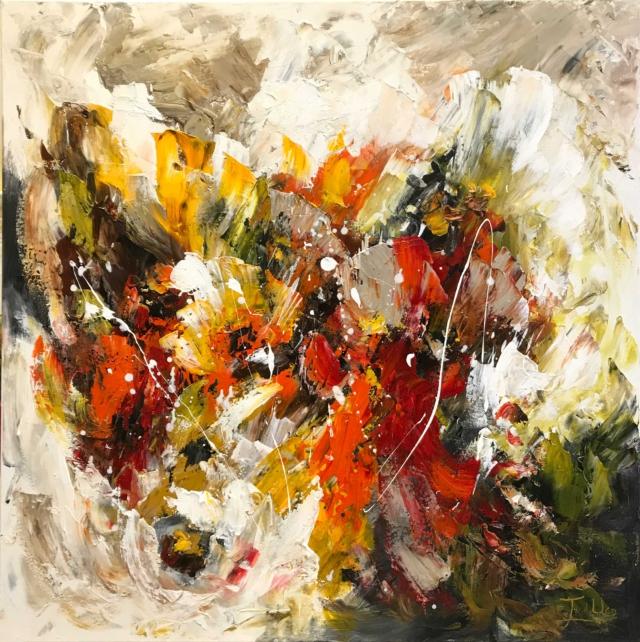 Twan van de Ven - Bloemenveld, abstract - Art Center Hoorn - VEN1003_1