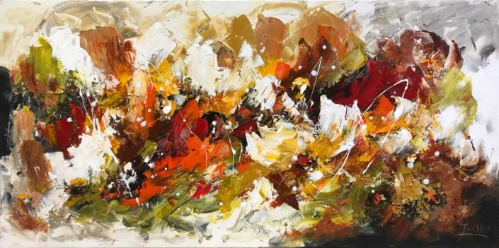 Twan van de Ven - Bloemenveld, abstract - Art Center Hoorn - VEN1004_1