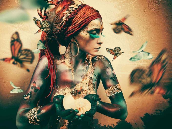 Jaime Ibarra - Woman with Butterflies - Art Center Hoorn