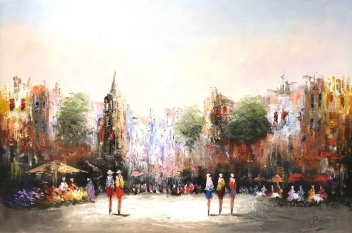Henry Brand - Stadsgezicht bij dag - Art Center Hoorn