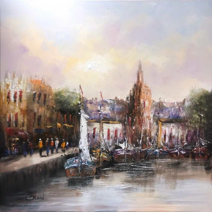 Havengezicht HBR1042_1 - Henry Brand - Art Center Hoorn