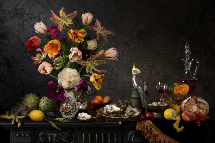 Hester Blankestijn - Still life with Oysters and Tulips - Art Center Hoorn