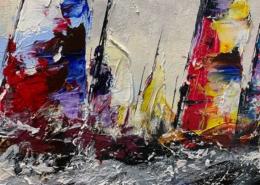 Jochem de Graaf - Zeilboten op zee - Art Center Hoorn